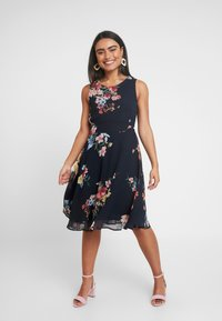 Esprit Collection Petite - FLUENT GEORGE DRESSES MIDI - Day dress - navy - 0