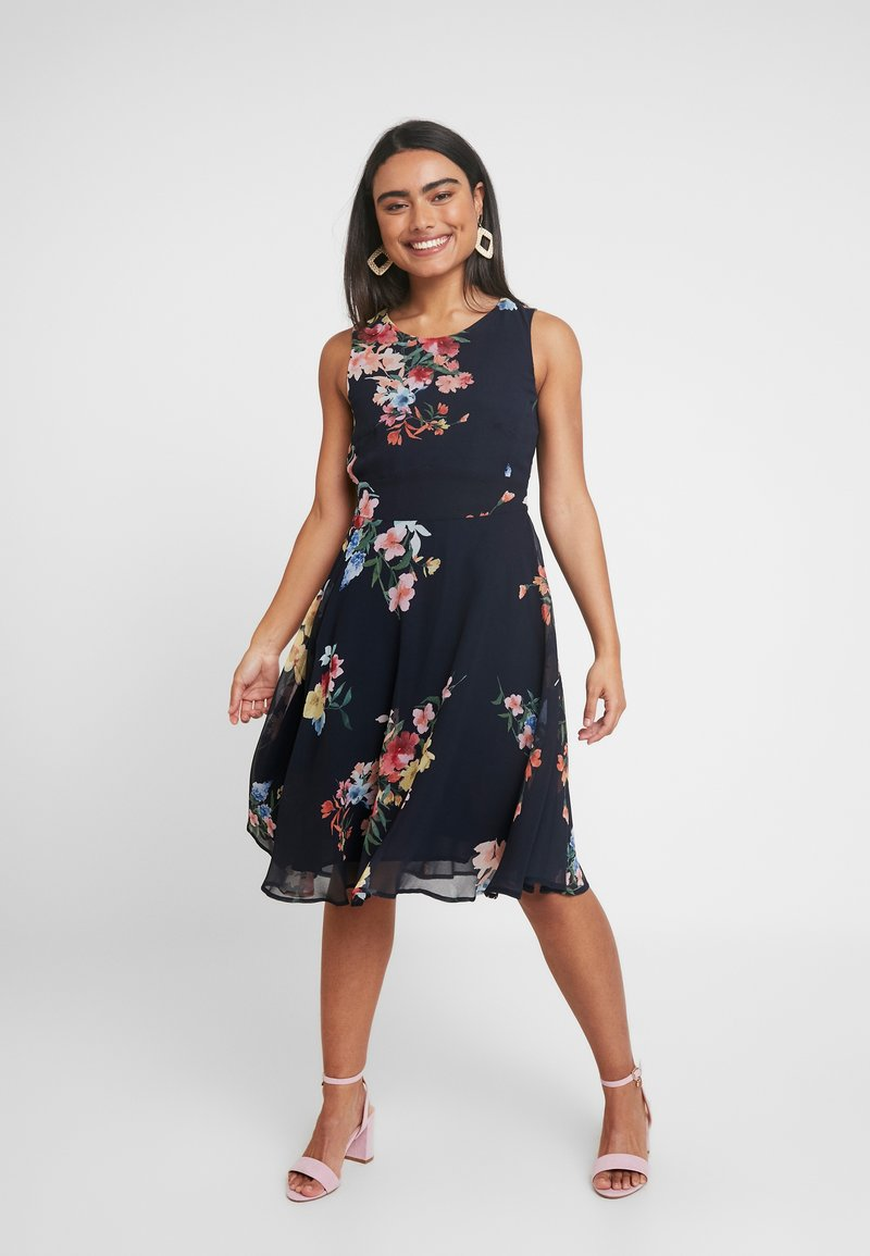 Esprit Collection Petite - FLUENT GEORGE DRESSES MIDI - Day dress - navy