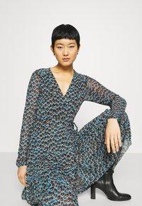 Fabienne Chapot - NATASJA FRILL DRESS - Day dress - dusty blue/taupe - 4