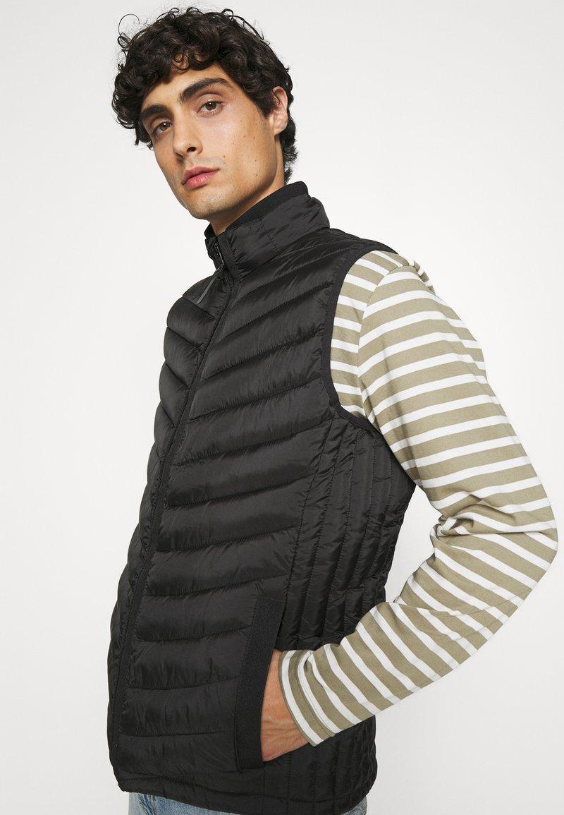 TOM TAILOR - Waistcoat - black