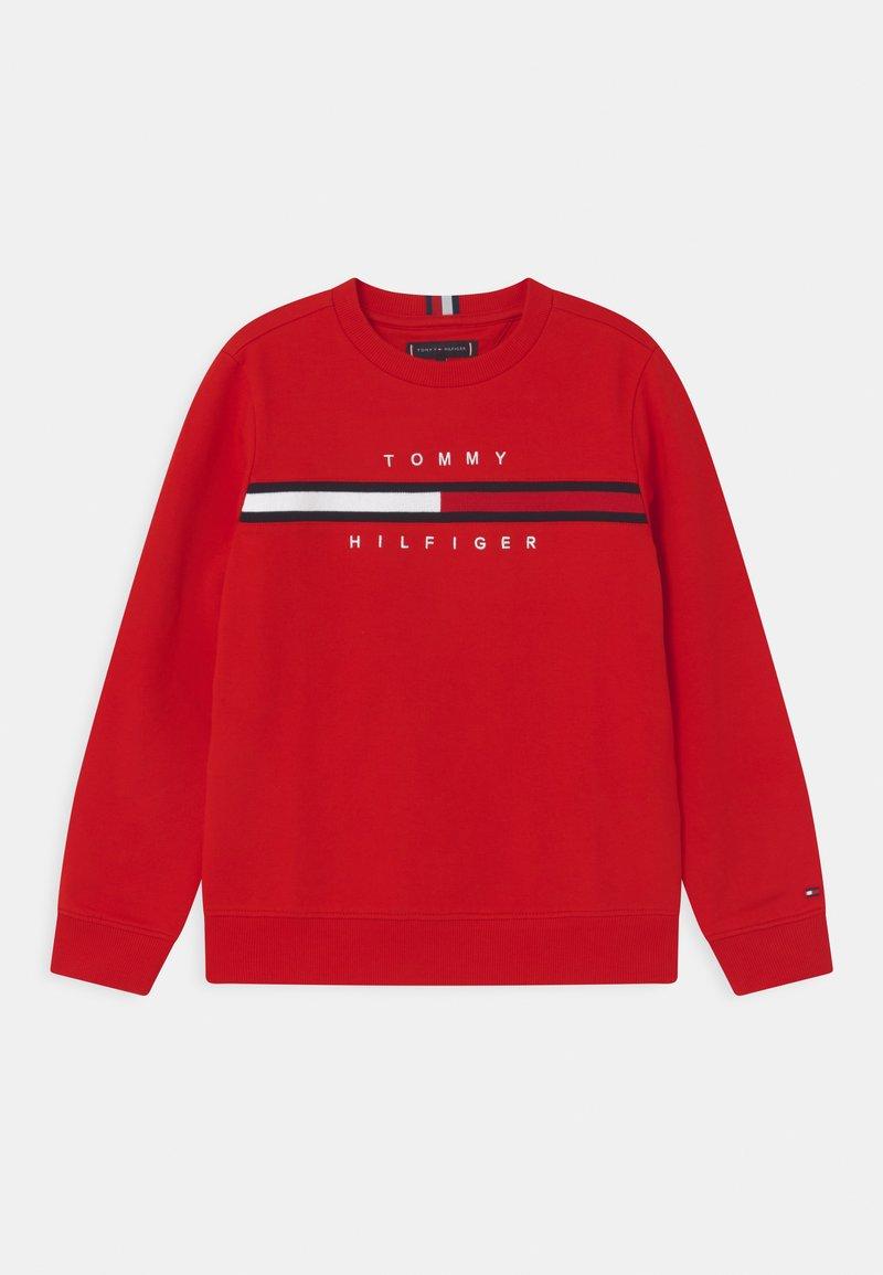 Tommy Hilfiger - FLAG INSERT  - Sweatshirts - deep crimson