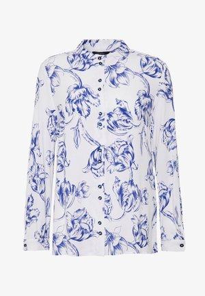 MAO COLLAR PRINTED BLOUSE - Overhemdblouse - blue
