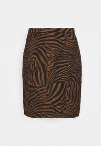 Closet - CLOSET PENCIL SKIRT - Mini skirt - brown - 0