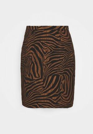 CLOSET PENCIL SKIRT - Mini skirt - brown