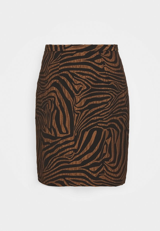 CLOSET PENCIL SKIRT - Mini skirt - brown