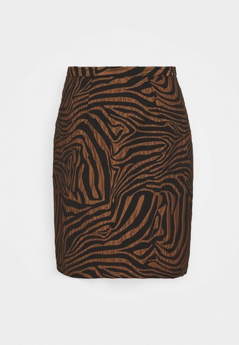 Closet - CLOSET PENCIL SKIRT - Mini skirt - brown