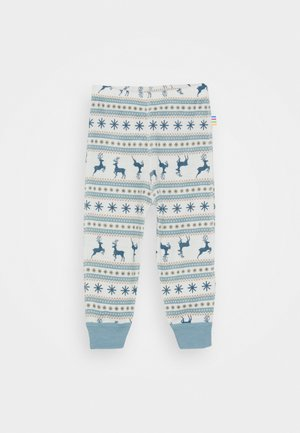 UNISEX - Leggings - Trousers - light blue/off white