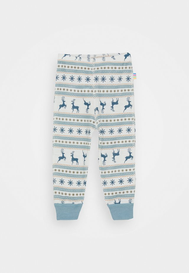 UNISEX - Leggings - light blue/off white