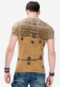 Cipo & Baxx - Print T-shirt - mustard - 3