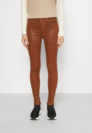 SKINNY ILLUSION - Trousers - brown