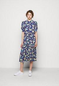 Lauren Ralph Lauren - DRAPEY POLY  - Denní šaty - blue multi - 1