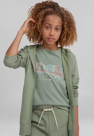 Zip-up sweatshirt - light green