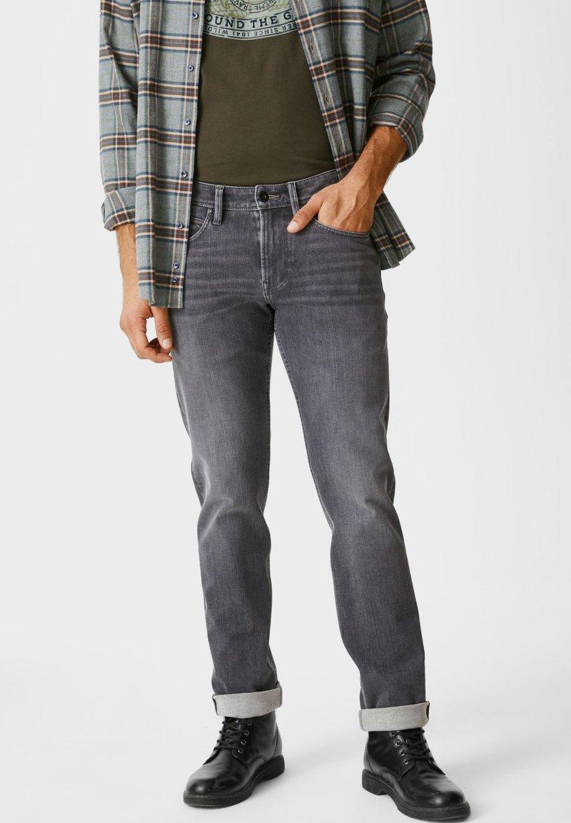 C&A - Slim fit jeans - jeans dunkelblau