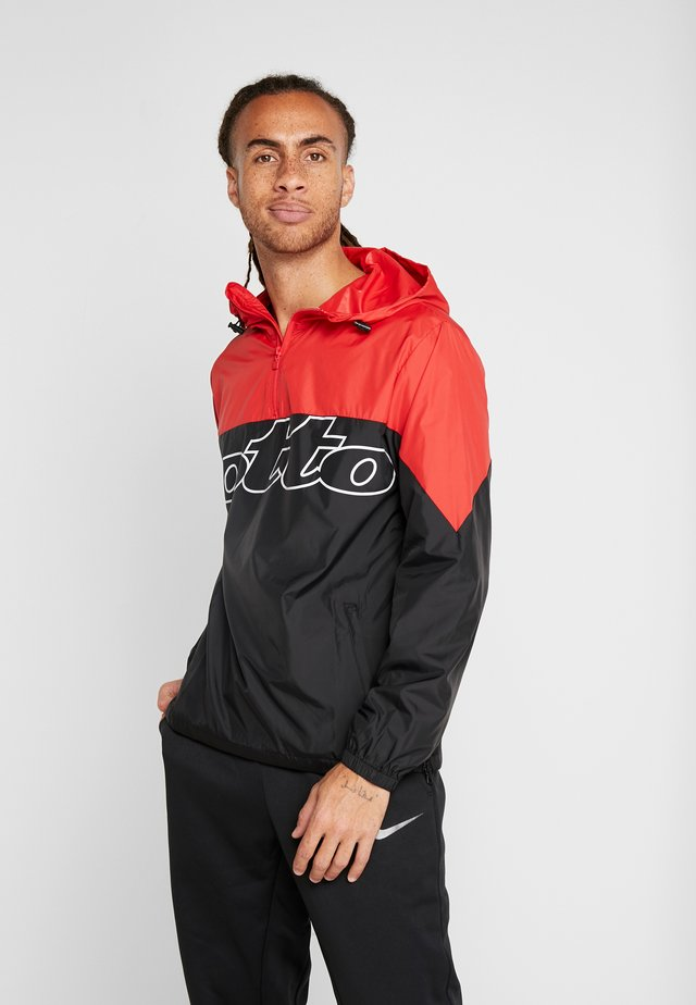 ATHLETICA JACKET - Training jacket - all black/flame red