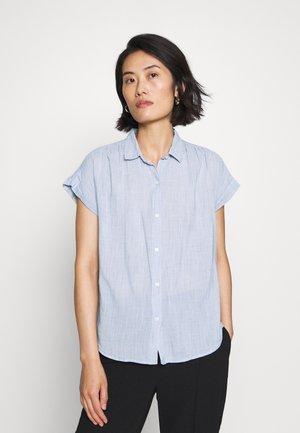 DRAPEY SHIRT - Button-down blouse - blue