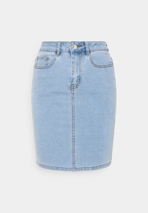 VMHOT NINE PENCIL  - Pencil skirt - light blue denim