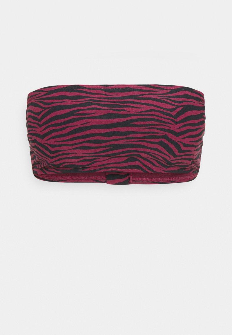 MICHAEL Michael Kors - ZEBRA BANDEAU - Bikini top - ruby