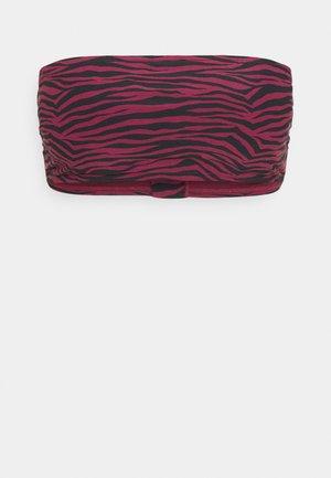 ZEBRA BANDEAU - Bikini top - ruby