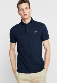 Hollister Co. - HERITAGE SLIM SOLID - Polo shirt - navy - 0