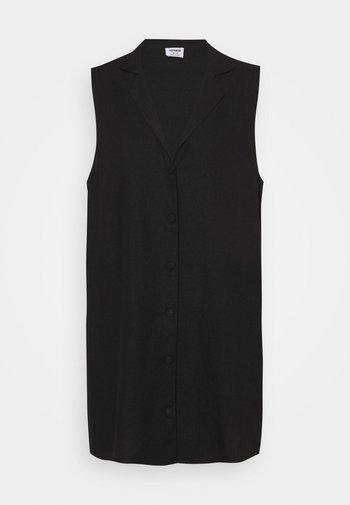 VICKY VEST DRESS - Shirt dress - black