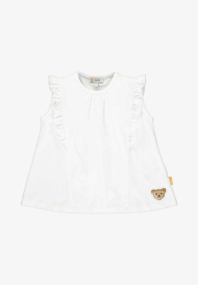STEIFF COLLECTION T-SHIRT MIT TEDDYBÄRMOTIV - Print T-shirt - bright white