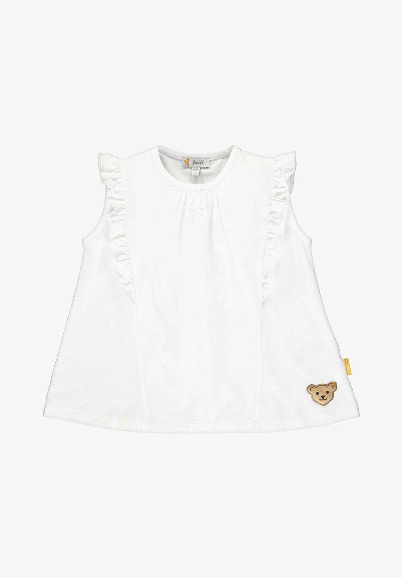 Steiff Collection - STEIFF COLLECTION T-SHIRT MIT TEDDYBÄRMOTIV - Print T-shirt - bright white