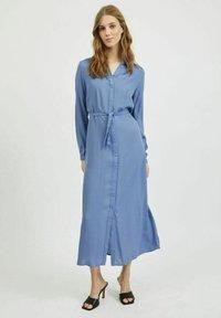 Vila - Shirt dress - colony blue - 1