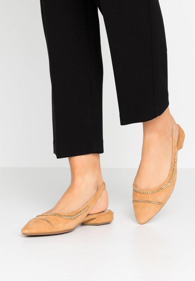 Slingback ballet pumps - grano
