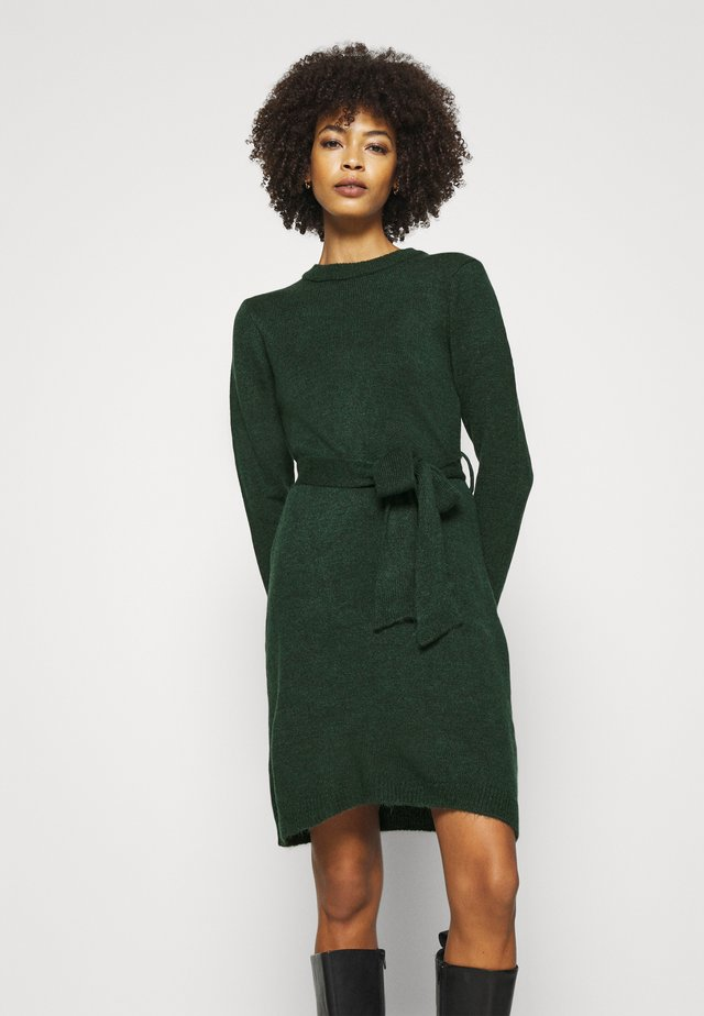 Strickkleid - dark green