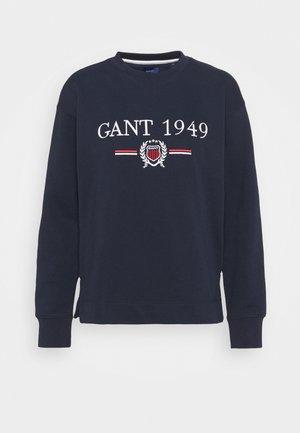 CREST CNECK  - Sweatshirt - evening blue