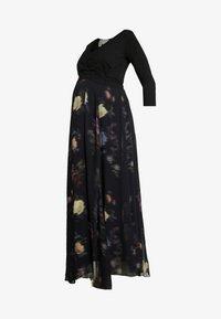 Seraphine - PETUNIA WRAP NURSING GOWN - Maxi dress - black - 6