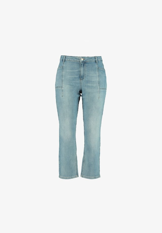 WITH SIDE POCKETS - Flared Jeans - blue
