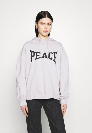 PEACE HOODY - Sweatshirt - grey