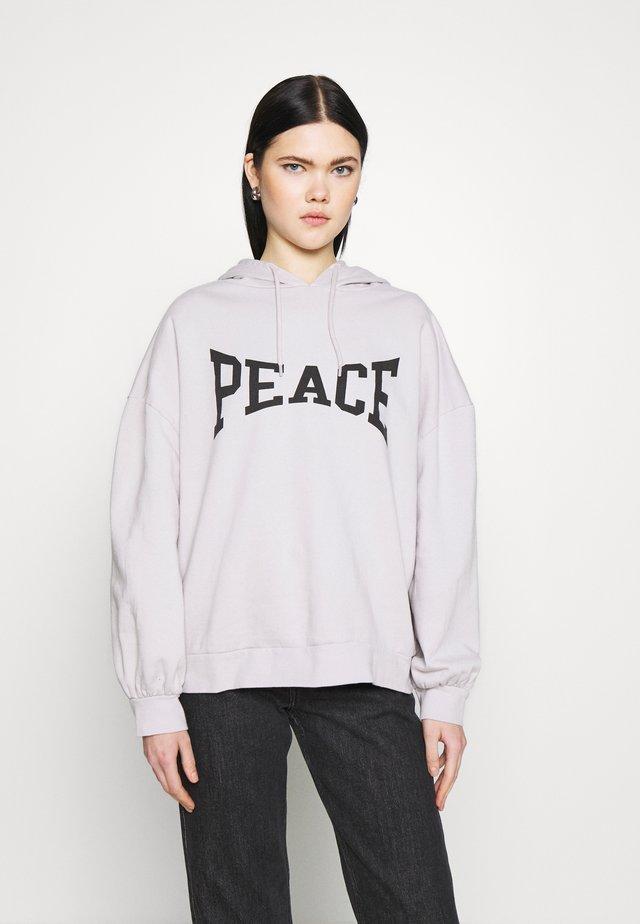 PEACE HOODY - Bluza - grey