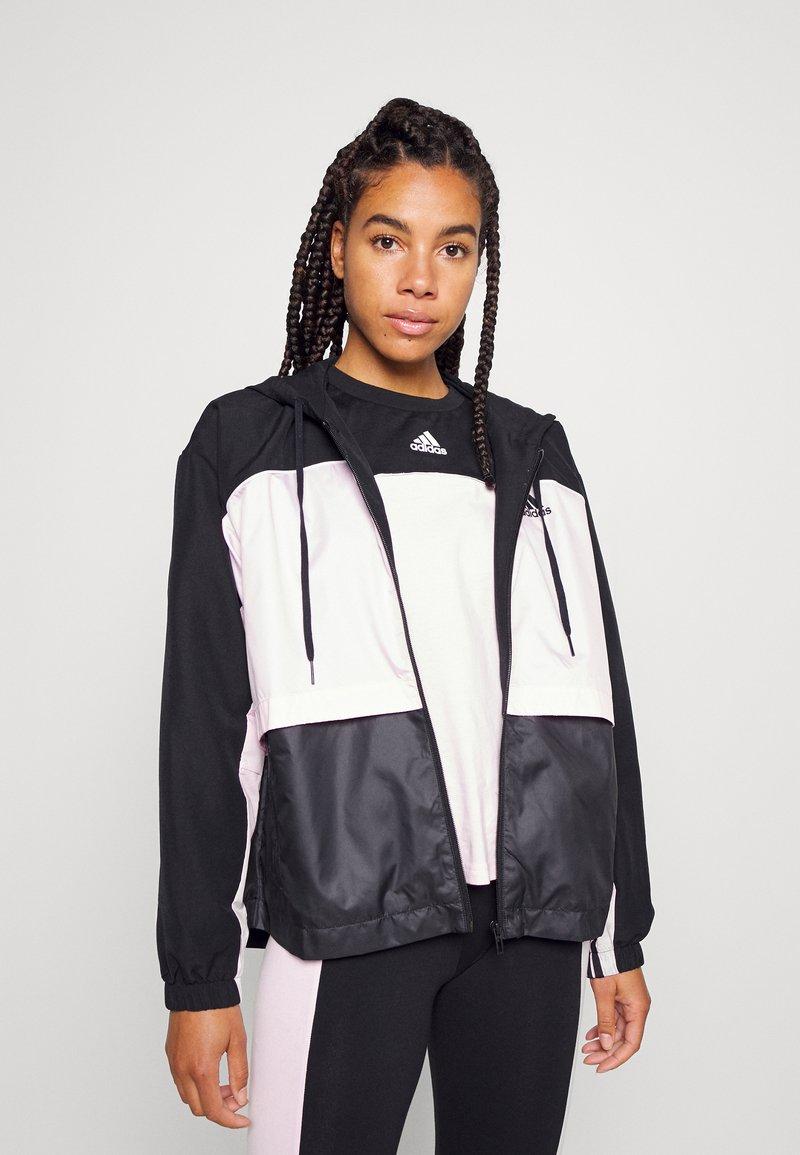 adidas Performance - Training jacket - black/clear pink