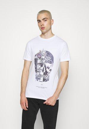 SKULL TEE - T-shirt print - white