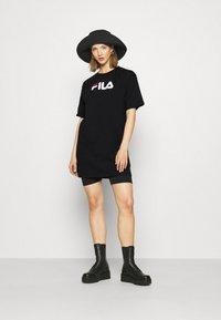 Fila - SATINKA TEE DRESS - Jersey dress - black - 1