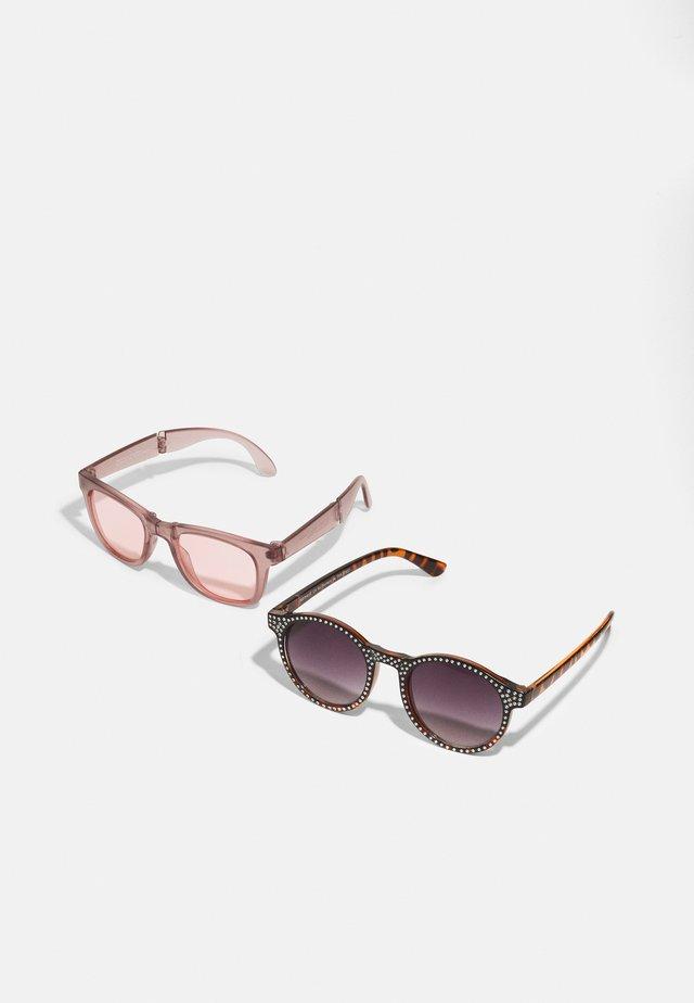 SUNGLASSES 2PACK - Sluneční brýle - woodrose/bone brown