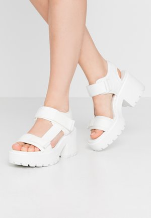 DIOON - Platform sandals - white