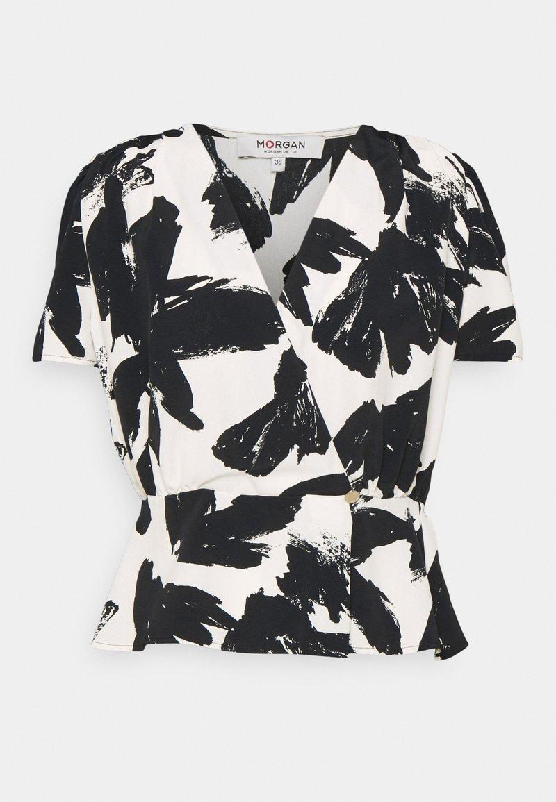 Morgan - Blouse - black/white
