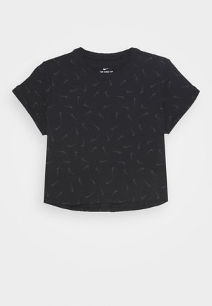 CROP SWOOSHFETTI - T-shirt print - black/smoke grey