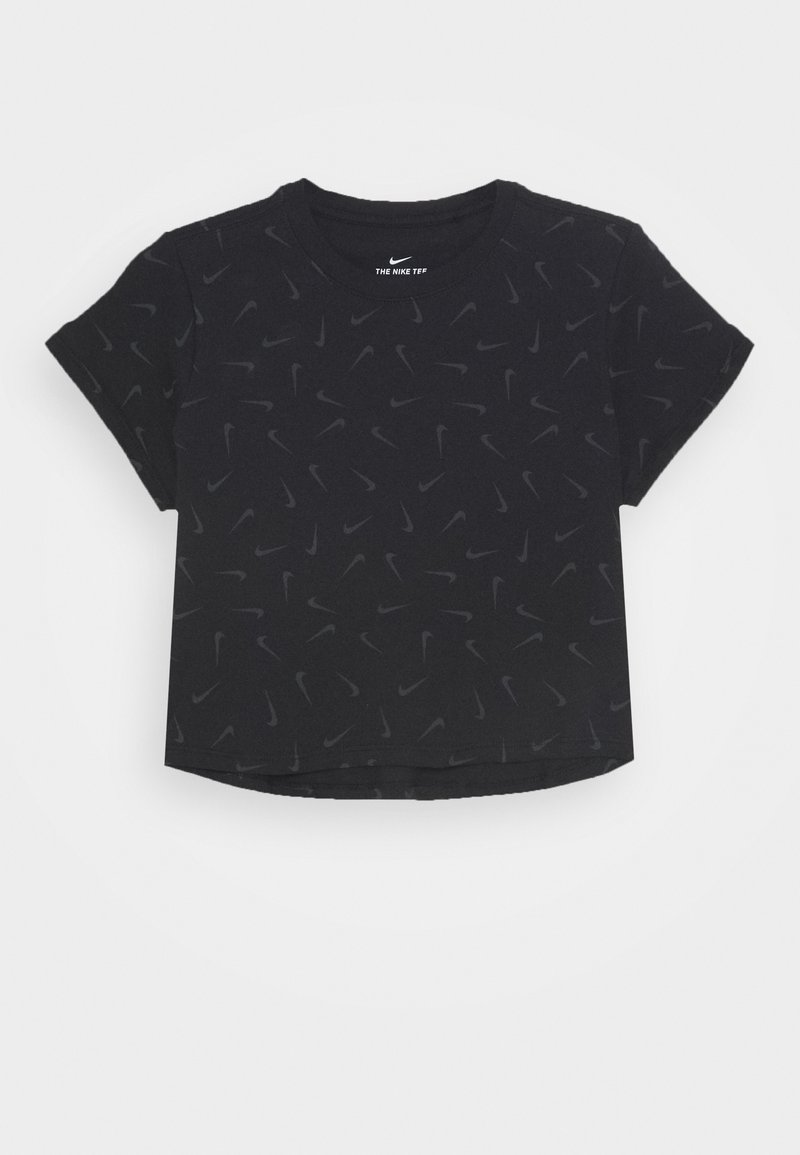 Nike Sportswear - TEE CROP - T-shirt print - black/smoke grey
