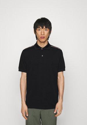 STRIPE TAPE - Polo shirt - black