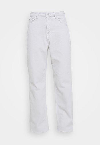 HIGH WAIST  - Straight leg -farkut - light grey