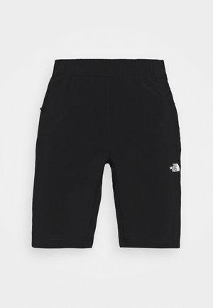 GLACIER SHORT - Pantalón corto de deporte - black
