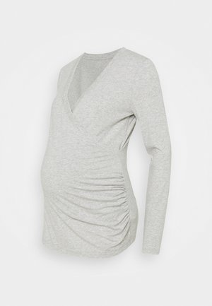 NURSING CROSSOVER - Long sleeved top - heather grey