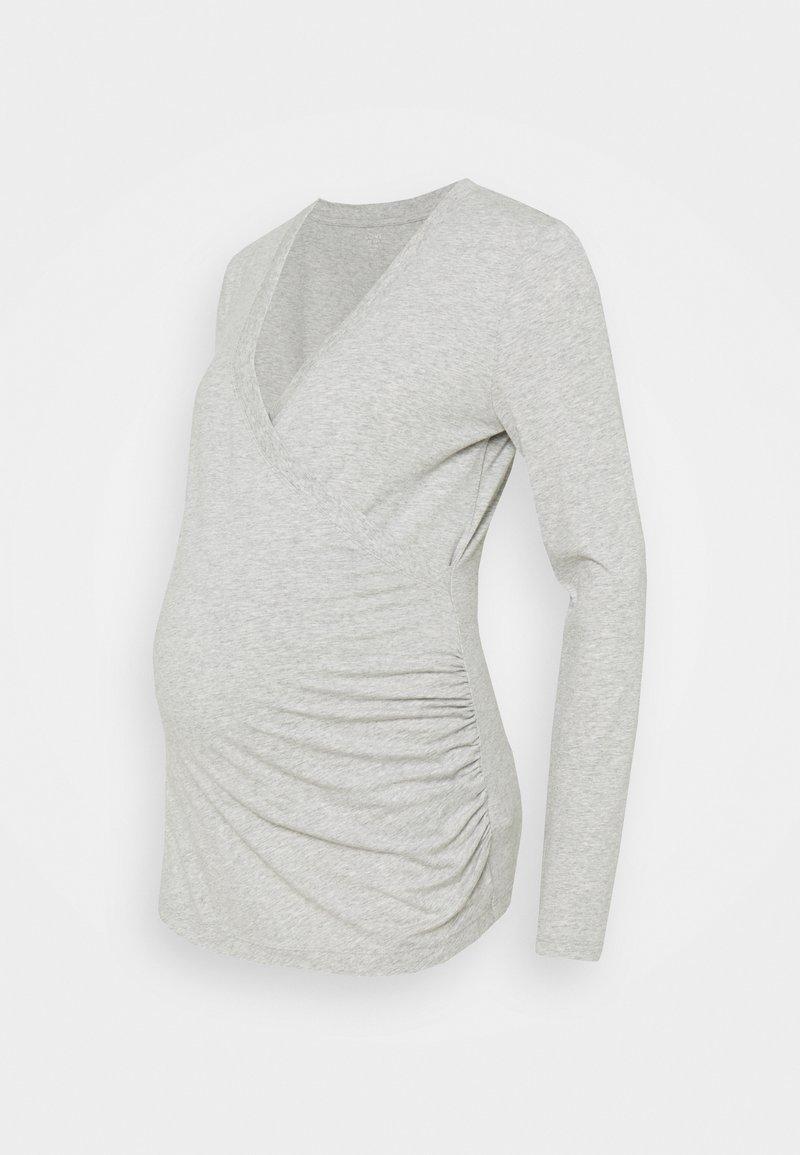 GAP Maternity - NURSING CROSSOVER - Bluzka z długim rękawem - heather grey