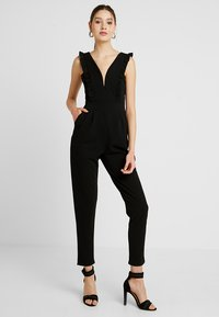 WAL G. - FRILL SLEEVE PLUNGE - Jumpsuit - black - 2