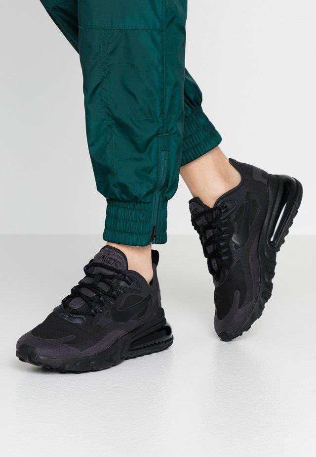 AIR MAX 270 REACT - Sneakersy niskie - black/oil grey/white