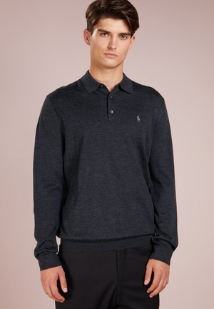 PLACKET - Jumper - dark granite heat